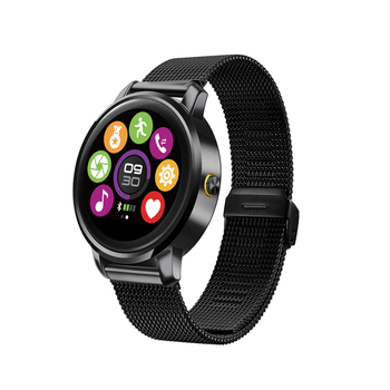 F1 Hart Rate Monirtor Smart Watch,2.5D Curved surface Screen Support Siri Voice MTK2502 Compatible IOS and Anroid Smart Clock