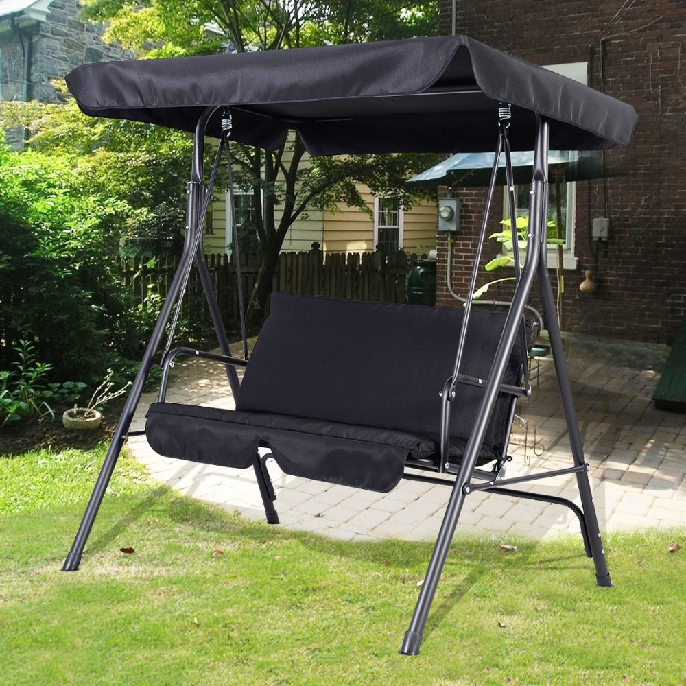 Garden Chair steel frame stable at high wind OP2576BK