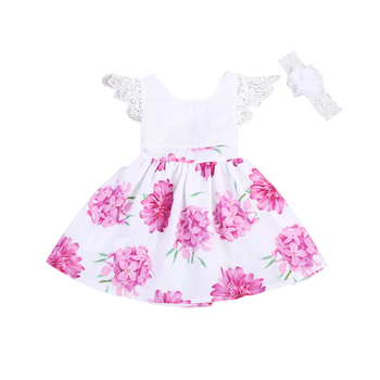 Kids Baby Girls Party Dress Clothing Sleeveless Lace Tulle Flower Gown Cute Mini New Dresses Girls Sundress 1-6Y