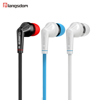 Original Langsdom JD88 Stereo In Ear Headset Earphone Handfree for Smartphone iphone 6 6s plus