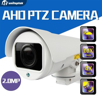 "1080P AHD CCTV Camera 4X ,10X ZOOM Auto-Focus Manual Varifocal Zoom Lens 1/3"" CMOS 4pcs Array IR LEDS Outdoor Bullet Camera"