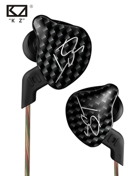 Brand HRH KZ ZST L Bending In Ear Earphone Hybrid Drive HIFI Sport Earbuds Earplug Headset With Mic Earpods Airpods
