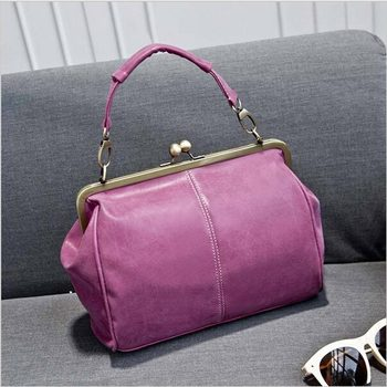 2016 Women Vintage Matte Leather Lock Bag/Women Messenger Bags/ FashionCross Body Bag/Large Shoulder Bag