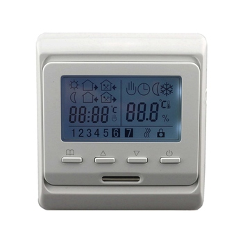 Digital Floor Heating Temperature Controller AC 16A 220V Room Air Electric Thermostat System Module LCD Weekly Programmable