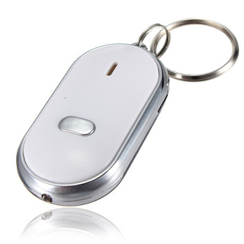 1PCs LED Light Torch Remote Sound Control Lost Key Finder Locator Locator Keychain Keyring With Whistle Claps