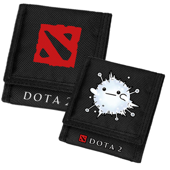 Game Dota Dota 2 TI7 Guardian Wisp Nevermore SF Printing Men Short Wallet Student Gift Unisex Purse Canvas Card Holder