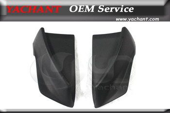 Car-Styling FRP Fiber Glass Rear Spats Fit For 2008-2010 Evolution X EVO 10 Rs Style Rear Bumper Caps Corner Attachment