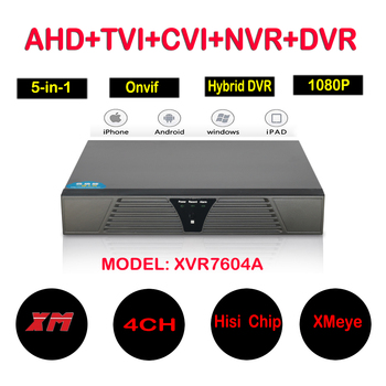 4CH AHD DVR 1080N Video Recorder 5 in 1 4 Channel Hybrid DVR NVR HVR For AHD IP Analog TVI CVI Camera with 4/1 Audio Xmeye App