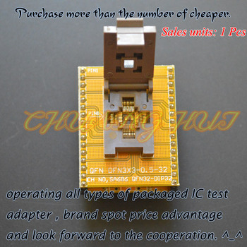 IC TEST WSON32 to DIP32 Programmer adapter DFN32 MLF32 QFN32 ic test socket Pitch=0.5mm Size=5x5mm