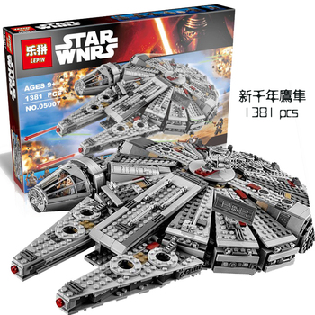 Lepin 05007 Star Wars Millennium Falcon Assembling building blocks Kids toy Compatible with 10467