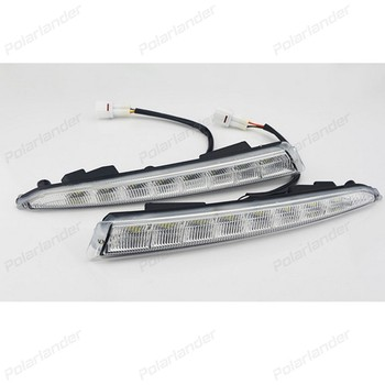 2 PCS auto fog lamp Car styling daytime running lights for F/ord k/uga Or E/scape 2013-